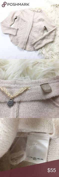 Anthro Knitted & Knotted Wool Cardigan Anthropologie Knitted & Knotted cardigan, women's size S. Anthropologie Sweaters Cardigans