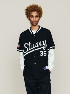 Stussy // Script Baseball Jersey