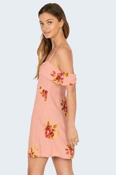 9c0efe7290de Amuse Society Valentina Dress // Pink Pink Dress, Bohemian Style, Cold  Shoulder Dress. Siren & Muse