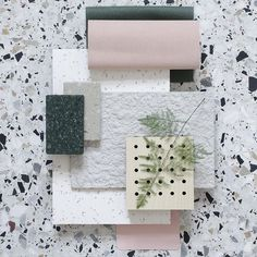 Material Mood of The Week ~ Pastel Pink & Graphic MDF #gerflor #taralay #decustic #laminat #wood #kydex #thermoplastics #kvadrattextiles #waterborn #forest #himacs #natural #acryil #stone #terrazzo #nature #interior #design #architecture #mood #materials #moodboard #inspiration #studiodavidthulstrup