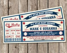 Vintage Baseball Baby Shower | Vintage Baseball Invitation - Baseball Baby Shower - DIY Printable