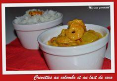 Crevettes au colombo et au lait de coco