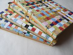 woven paper book covers by immaginacija, via Flickr