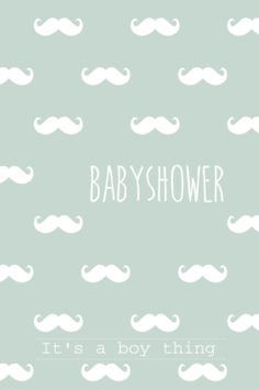 lovz.nl | babyshower uitnodigingskaart | snor patroon | zelf maken