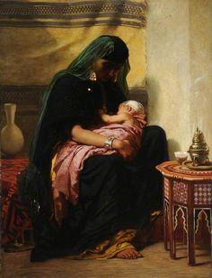 The First Born 1861 By Frederick Goodall , English- Ancient Egyptian Art, Egyptian Mythology, Academic Art, Cultural Studies, Arabic Art, Classical Art, Mothers Love, American Artists, Street Art