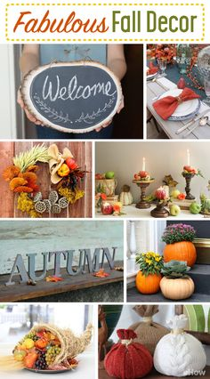 Decorate your home with the fabulous essence of fall! These easy DIYs (like the fall elements wreath or the apple candles) bring so much color and life to your world  for little cost! http://www.ehow.com/list_12340323_fabulous-fall-decor-seasonal-touches-home-table.html?utm_source=pinterest.com&utm_medium=referral&utm_content=curated&utm_campaign=fanpage