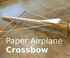 In this video, I'll show you how you can build a simple crossbow that shoots paper airplanes! I made this paper airplane launcher using almost all ma...