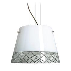 Modern Drum Pendant Light with White Glass in Bronze Finish | 1KV-4340WC-BR | Destination Lighting