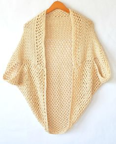 """""""This cardigan is very easy to make and features beautiful textures and stitches. It will be your go to item for spring into the summer months! While it's perfect for warm weather, it's also great to wear in the winter with a long sleeve shirt."""""""