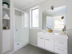 #bathroom #floatingvanity #storageideas #bathroomstorage #shower #vanity #naturallight #minimalisticmirror #interiordesign