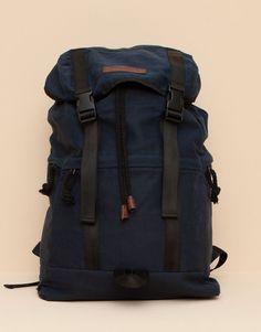 Pull&Bear - hombre - bolsas y carteras - mochila cremalleras - marino - 09821507-I2015