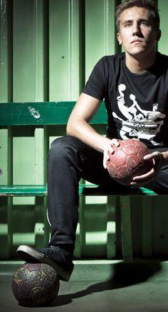 "Handball t-shirt - design ""Tangled Throws"" during the photo shot :)"