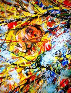 "Saatchi Art Artist Nada  Sucur Jovanovic; Painting, ""Orange"" #art"