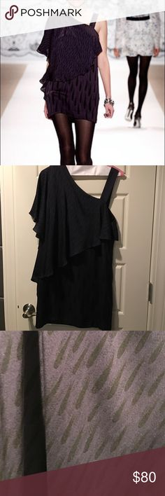 Twinkle by wenlan dress As seen on the runway! Just dry cleaned. Worn twice, great condition. It's a dark purple and black print. Twinkle By Wenlan Dresses