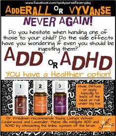 Young Living Essential Oils:  ADD & ADHD