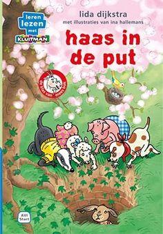 Leren lezen met Kluitman haas in de put, Lida Dijkstra, illustraties Ina Hallemans AVI-Start