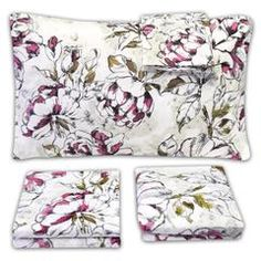 Soften your space with the Dolce Floral Peonies Pattern Sheet Set. This gorgeous design includes the perfect mix of hand-drawn, line-style detail and romantic watercolor to fill in the gaps. It's a fresh take on vintage floral! Sweet Home Collection, Feather Pillows, Floral Bedding, Patterned Sheets, Comfy Bed, King Sheet Sets, Mandala Pattern, Comforter Sets