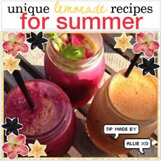 unique lemonade recipes for summer