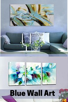 Blue wall art is a sophisticated and trendy way to deck the walls of your home.   Blue  wall art makes your home feel harmonious, peaceful and relaxing.  However blue wall art can also create a bold first impression .