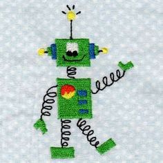 "This free embroidery design is from Design by Sick's ""Outer Space"" collection."