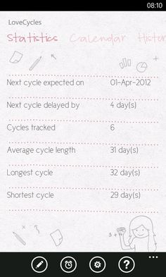 Statistics in LoveCycles (Windows Phone version) .