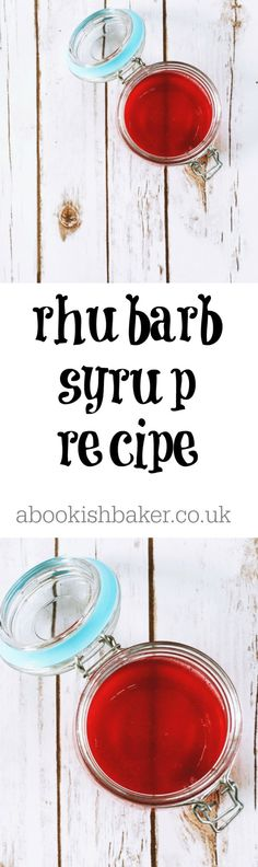 How to Make Rhubarb Syrup - A Bookish Baker Rhubarb Syrup, How To Make Jam, Living On A Budget, Healthy Eating, Harvest, Pancakes, Drinks, Spring, Canning