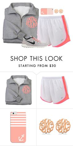 """""""Just peachy"""" by pineappleprincess1012 ❤ liked on Polyvore featuring NIKE, Casetify and Allurez"""