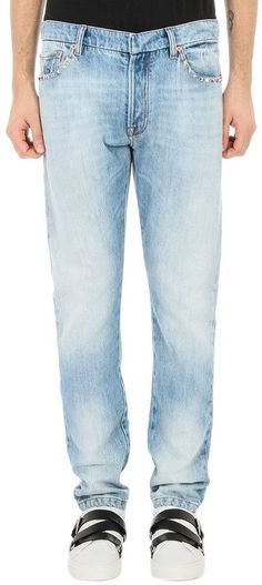 Valentino Rockstud Blue Denim Jeans