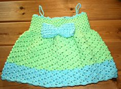 Fun in the sun  Baby crochet summer dress 12 por crochetyknitsnbits, £22.99