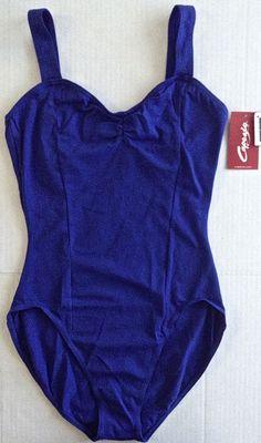Capezio Princess Leotard Gymnastics Dance Ballet Cotton Lycra Women Teen XL NWT #Capezio