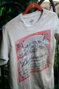 Hey, I found this really awesome Etsy listing at http://www.etsy.com/listing/124591193/king-of-beers-budweiser-shirt-s-m-l