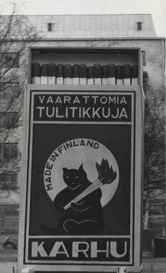 #Porin Puuvilla Oy #Tulitikut #Tulitikkurasiamainos #Etiketit #Made in Finland #Karhu #Vaarattomia tulitikkuja #Tändstickor #Tändsticksask #Etikett #Björn #Matches (firemaking) #Label #Bear #Safe matches Finland, How To Make