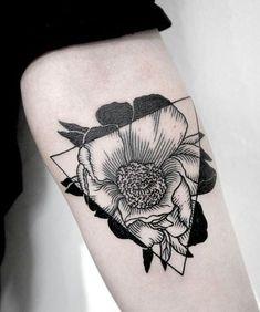 geometric tattoo flower