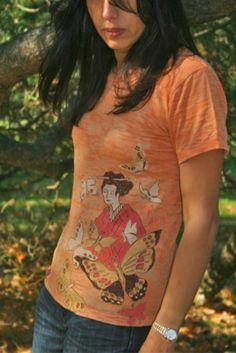 Annapola / Geisha women's top by Annapola on Etsy, $28.00