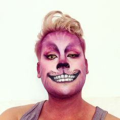 5fe1c64ff Maquillaje del gato Cheshire