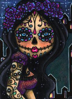 Sugar Doll (aceo) By Regan Kubecek