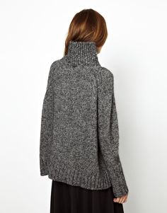 Vanessa Bruno Athé Chunky Jumper with Side Splits and Poloneck
