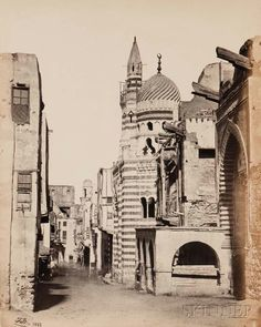 Francis Frith (British, 1822-1898) Street View in Cairo, 1858. | Lot 132 | Auction 2977B | Estimate: $2,500-3,500