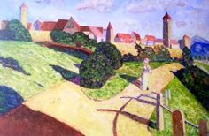 Wassily Kandinsky, Old City II on ArtStack #wassily-kandinsky-vasilii-vasil-ievich-kandinskii #art