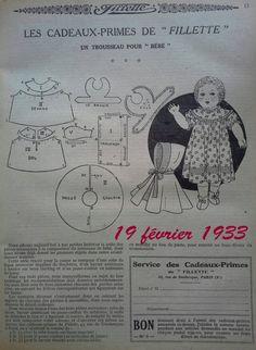 Les poupées de Fillette en 1933 ....                                                                                                                                                                                 Plus