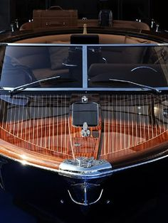Love the layers of lacquer on this old Chris Craft!
