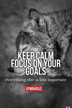 """gymaaholic: """" Keep Calm, Focus On Your Goals Everything else is less important. http://www.gymaholic.co """""""
