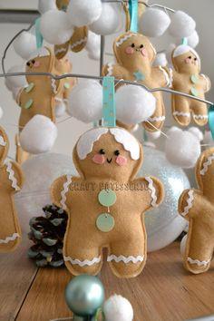 """""""Zenzini"""" gingerbreadman felt decor handmade by craftpatisserie; DIY"""
