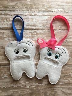 Dent - Tooth Fairy - pochette - pochette - porte - dans le cadre à broder - broderie numérique DESIGN