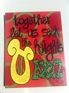 Together Let Us Seek the Heights Canvas - Alpha Chi Omega