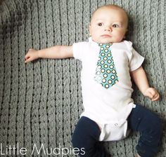 DIY Gifts for Babies - DIY Baby Tie Onesie - Best DIY Gift Ideas for Baby Boys and Girls - Creative Projects to Sew, Make and Sell, Gift Baskets, Diaper Cakes and Presents for Baby Showers and New Parents. Cool Christmas and Birthday Ideas http://diyjoy.com/diy-gifts-for-baby
