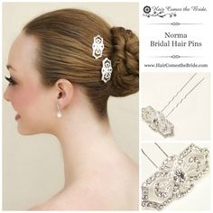 Art Deco Vintage Rhinestone Bridal Hair Pins by Hair Comes the Bride - Bridal Hair Accessories & Jewelry