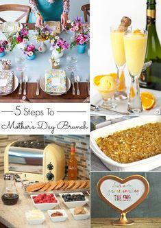 MOTHER'S DAY BRUNCH IN 5 EASY STEPS #mothersday