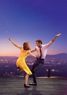 La La Land  Hi-Res Movie Poster Yellow Dress Textless Key Art