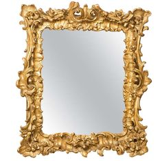 18th Century French Rococo Mirror/Frame | From a unique collection of antique and modern wall mirrors at https://www.1stdibs.com/furniture/mirrors/wall-mirrors/